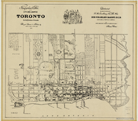 Topographical plan of the city and liberties of Toronto, in the province of Canada