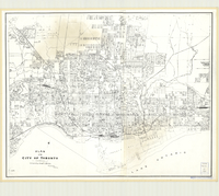Plan of the City of Toronto, Tracy D. Le May, city surveyor, September 27th, 1921