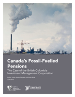 Canada's Fossil-Fuelled Pensions: The Case of the British Columbia Investment Management Corporation
