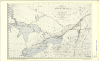 A map of the province of Upper Canada, describing all the new settlements, townships, etc. with the countries adjacent, from Quebec to Lake Huron