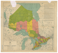 Map of the Province of Ontario, Dominion of Canada [1912]