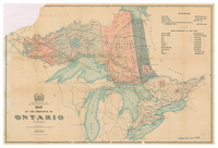 Map of the province of Ontario, Canada [1901]