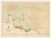 Map of part of Keewatin shewing Dominion land surveys to 31st December, 1876 [south Kenora district]