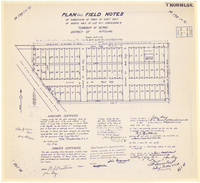 Plan and field notes of subdivision of part of east half of north half of lot no. 1 consession 6. Township of Kerns, District of Nipissing