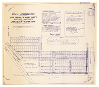 Plan of subdivision of part of south half lot 1, con. 1, Township of Armstrong in the District of Nipissing