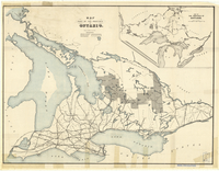 Map of part of the province of Ontario