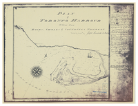 Plan of Toronto Harbour : with the rocks, shoals & soundings thereof