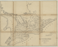 Map of Upper Canada shewing the proposed land agency divisions