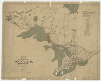 Map of the Province of Ontario, Dominion of Canada, exhibiting the counties and districts therein, also the unsurveyed portions of northern and northwestern Ontario