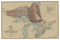 Map of the province of Ontario, Canada [1908]