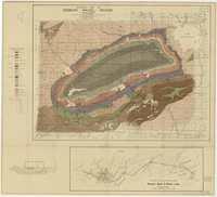 Geological map of Sudbury nickel region