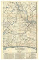 Official road map of Ottawa and vicinity showing the permanent highway between Ogdensburg N.Y. and the Dominion capital