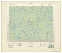 National Topographic Series (scale 1:126,720) : Longlac, Ontario [sheet 42E/NE]