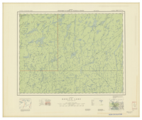 National Topographic Series (scale 1:126,720) : Roslyn Lake, Ontario [sheet 42E/SW]