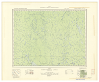 National Topographic Series (scale 1:126,720) : Montreuil Lake, Ontario [sheet 42H/NE]