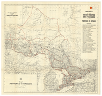 Map of the Province of Ontario : compiled plan of the Indian treaties and purchases in the Province of Ontario