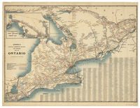Stovel's railway, commercial routing and shippers' map of Ontario