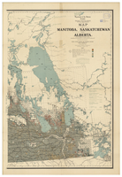 Map of Manitoba, Saskatchewan and Alberta, 1909 [East]