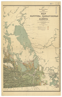 Map of Manitoba, Saskatchewan and Alberta, 1905 [East]