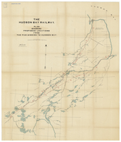 The Hudson Bay railway : plan showing proposed locations from the PAS mission to Hudson Bay