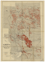 Map of a portion of Alberta shewing lands for sale by the Canadian Pacific Railway Co