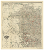 Cereal map of Alberta Southern, showing acreage under crop in each township in wheat, oats, barley and flax during 1915