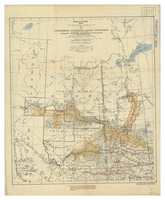 Map of northern Alberta land districts : comprising agencies of Peace River, Grande Prairie & Edmonton