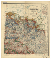 Saskatchewan : map showing disposition of lands