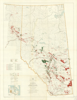 Alberta and Northeastern British Columbia : showing oil and gas fields and oil and gas discoveries