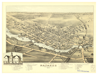 Bird's eye view of Napanee Ontario, Canada