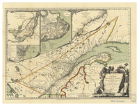 A new map of the province of Québec, according to the Royal Proclamation, of the 7th of October 1763, from the French surveys connected with those made after the War, by Captain Carver, and other officers in His Majesty's service