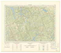 National Topographic Series (scale 1:125,000) : Bancroft, Ontario [sheet 31F/SW]