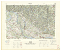 National Topographic Series (scale 1:125,000) : Fort-Coulonge, Quebec-Ontario [sheet 31F/NE]