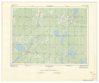 National Topographic Series (scale 1:125,000) : Senneterre, Quebec [sheet 32C/SW]
