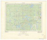National Topographic Series (scale 1:125,000) : Rouyn-Larder Lake, Quebec-Ontario [sheet 32D/SW]