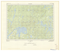 National Topographic Series (scale 1:125,000) : Lac Simard, Quebec [sheet 31M/NE]