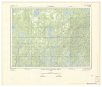 National Topographic Series (scale 1:125,000) : Grand Lake Victoria North, Quebec [sheet 31N/NW]