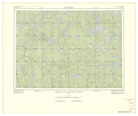National Topographic Series (scale 1:125,000) : Grand Lake Victoria South, Quebec [sheet 31N/SW]