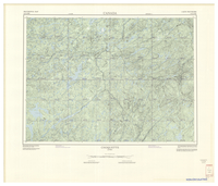 National Topographic Series (scale 1:125,000) : Choquette, Quebec [sheet 31O/NW]