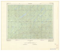 National Topographic Series (scale 1:125,000) : Lac Faillon, Quebec [sheet 32C/SE]