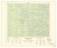 National Topographic Series (scale 1:125,000) : Manigotagan Lake, Manitoba-Ontario [sheet 52L/NW]