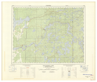 National Topographic Series (scale 1:125,000) : Eaglenest Lake, Manitoba-Ontario [sheet 52L/SW]