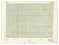 National Topographic Series (scale 1:125,000) : Lac Beauchene, Quebec [sheet 31L/NE]