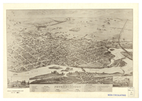 Bird's eye view of Peterborough, Ontario, Canada