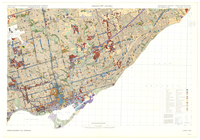 Toronto (East), Ontario, land use [map] = Toronto (est), Ontario, [carte d']aménagement du terrain