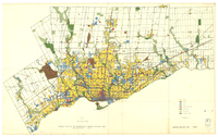 Official plan of the Metropolitan Toronto planning area : existing land use, 1963 : plate 1