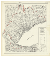 Study area map : produced for the Metropolitan Toronto and Region Transportation Study