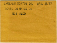 Shulman Morton Dr. Royal Commission [NOT USED]