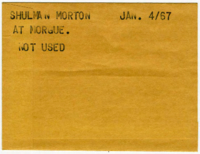 Shulman Morton at morgue. [NOT USED]