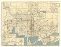 Might's clearview correct city directory map of Greater Toronto [1932]